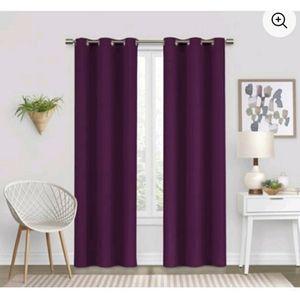 Mainstays Purple Black Curtains